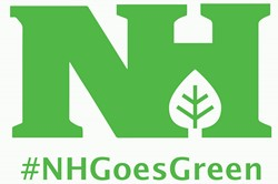 Logo for #NHGoesGreen logo for Go Green Campaign