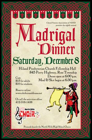 Madrigal Dinner Poster