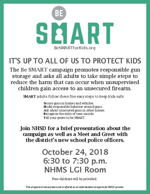 Be Smart Program Flyer