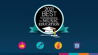 2021 Best Communities for Music Education logo