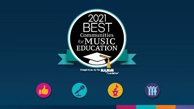 2021 Best Communities for Music Education logo