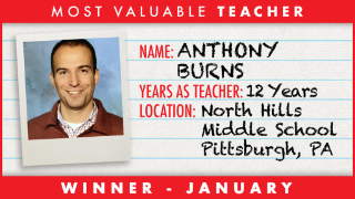 Anthony Burns 1 of 3 finalists for NHL's Teacher of the Year