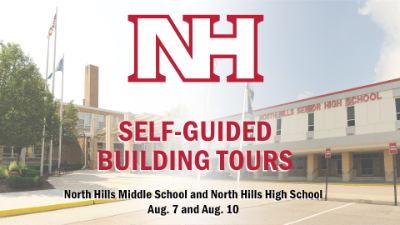 Self-guided buildings tours at North Hills Middle and High School