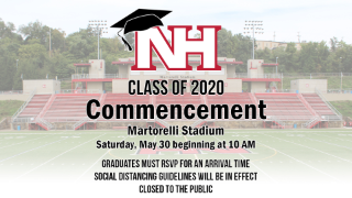 Class of 2020 Commencement set for May 30 at Martorelli Stadium