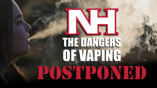 NH Dangers of Vaping Postponed graphic