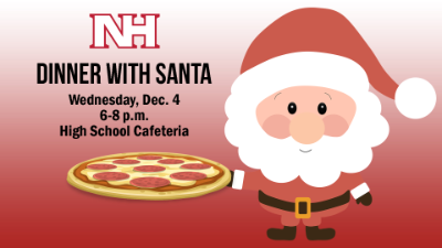 Dinner with Santa graphic