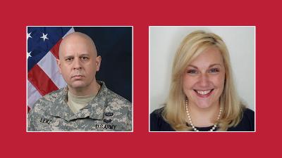 Lt. Col. Phillip Lenz (Class of 1989) and Dr. Monica Buchanan (Class of 1998)