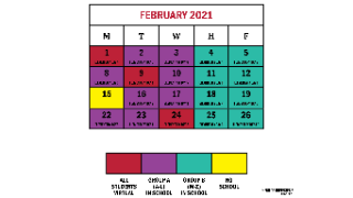 Revised Feb. 2021 calendar