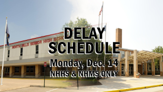 High School, Middle School operating on a Delay schedule for Monday, Dec. 14