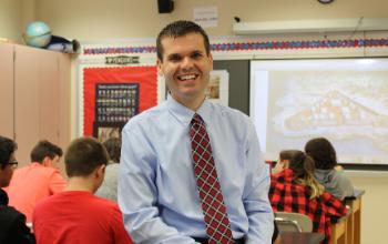 North Hills Middle School social studies teacher Joe Welch