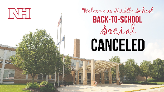Welcome to Middle School Back-to-School Social canceled