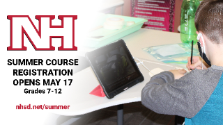 Summer course registration for grades 7-12 opens Monday, May 17
