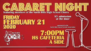 North Hills' Choir Cabaret Night set for Feb. 21