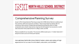 Comprehensive Planning Survey screenshot