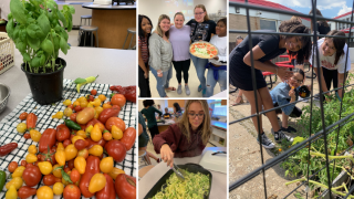 Students make yummy, healthy meals with produce grown in HS garden