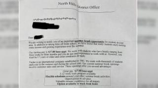 NHSD warns of letter offering summer employment