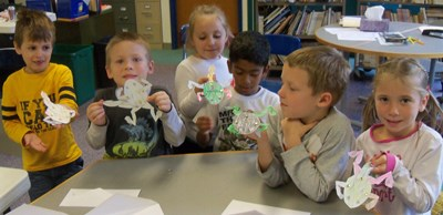 For an enrichment activity, the group studied frogs, inside and out.