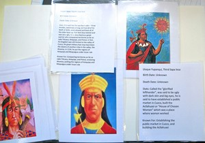 Inca royalty baseball cards.  (What's Atahualpa's rookie year worth?)
