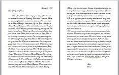 A long-lost Civil War letter.