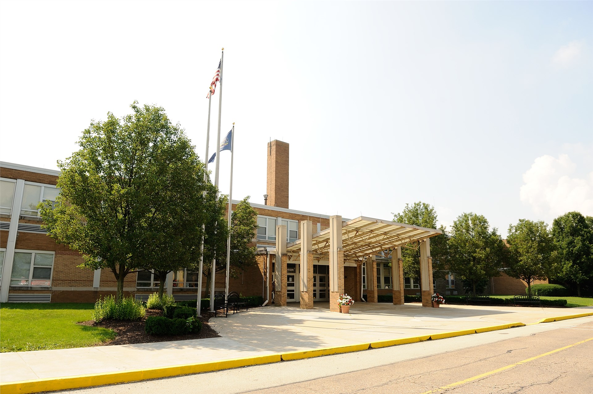 North Hills Middle School Building Exterior View