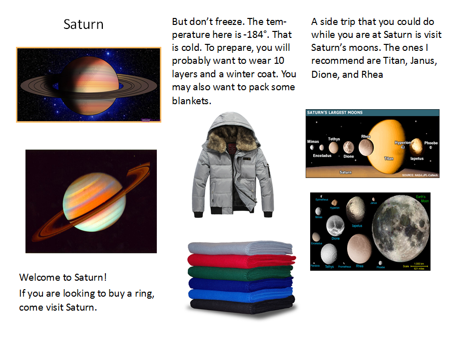 Travel brochures to other planets!