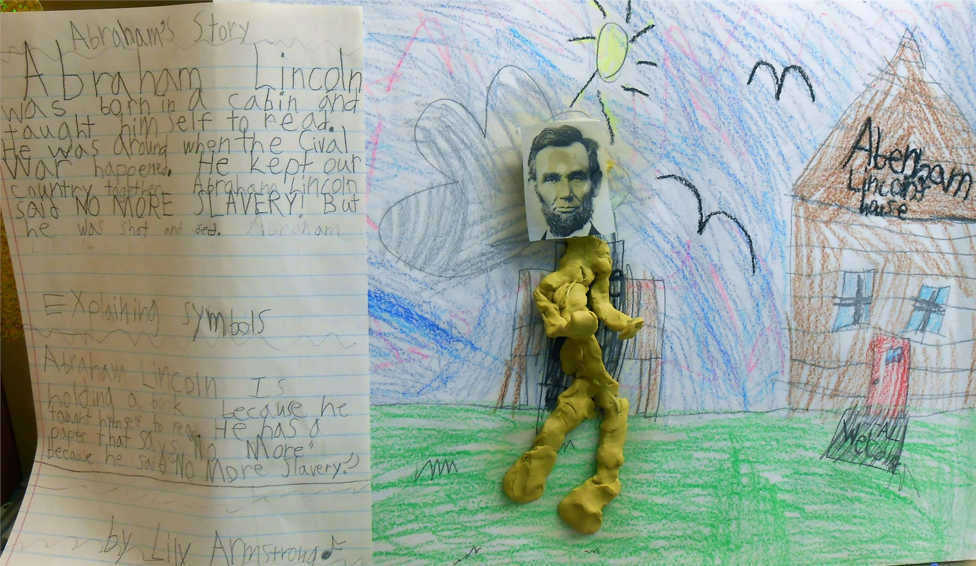 Students learn about great presidents.