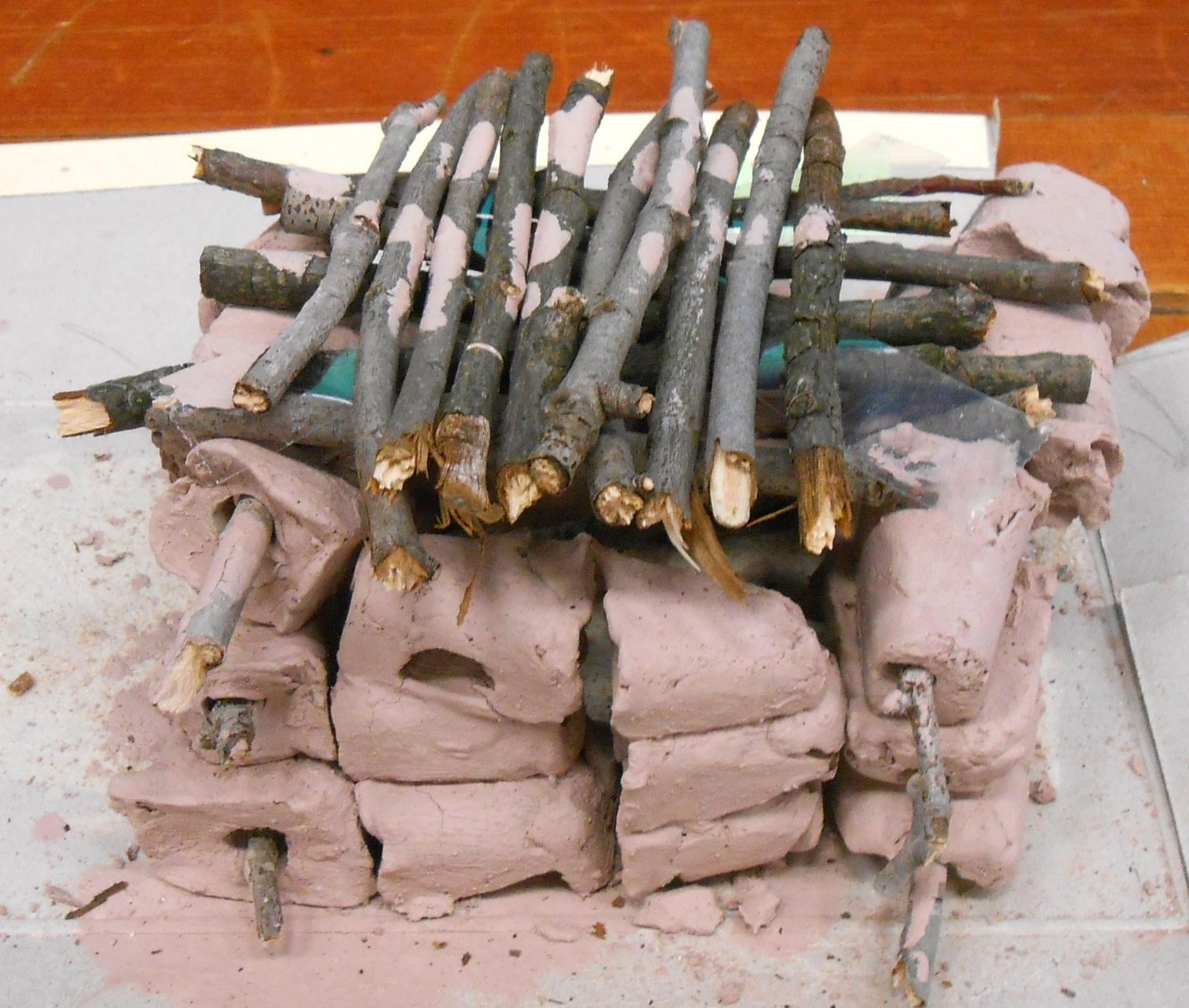 A Pueblo adobe structure