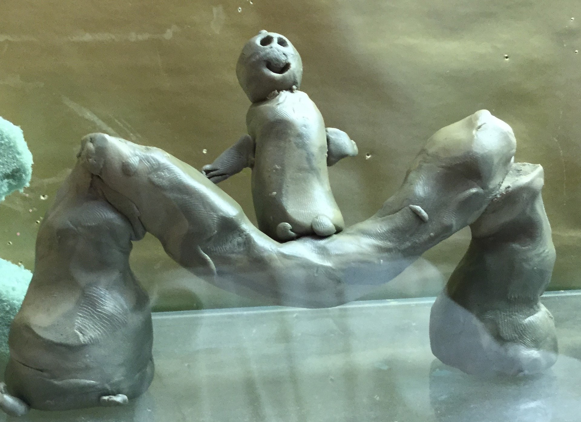 FIfth graders create sculpture.