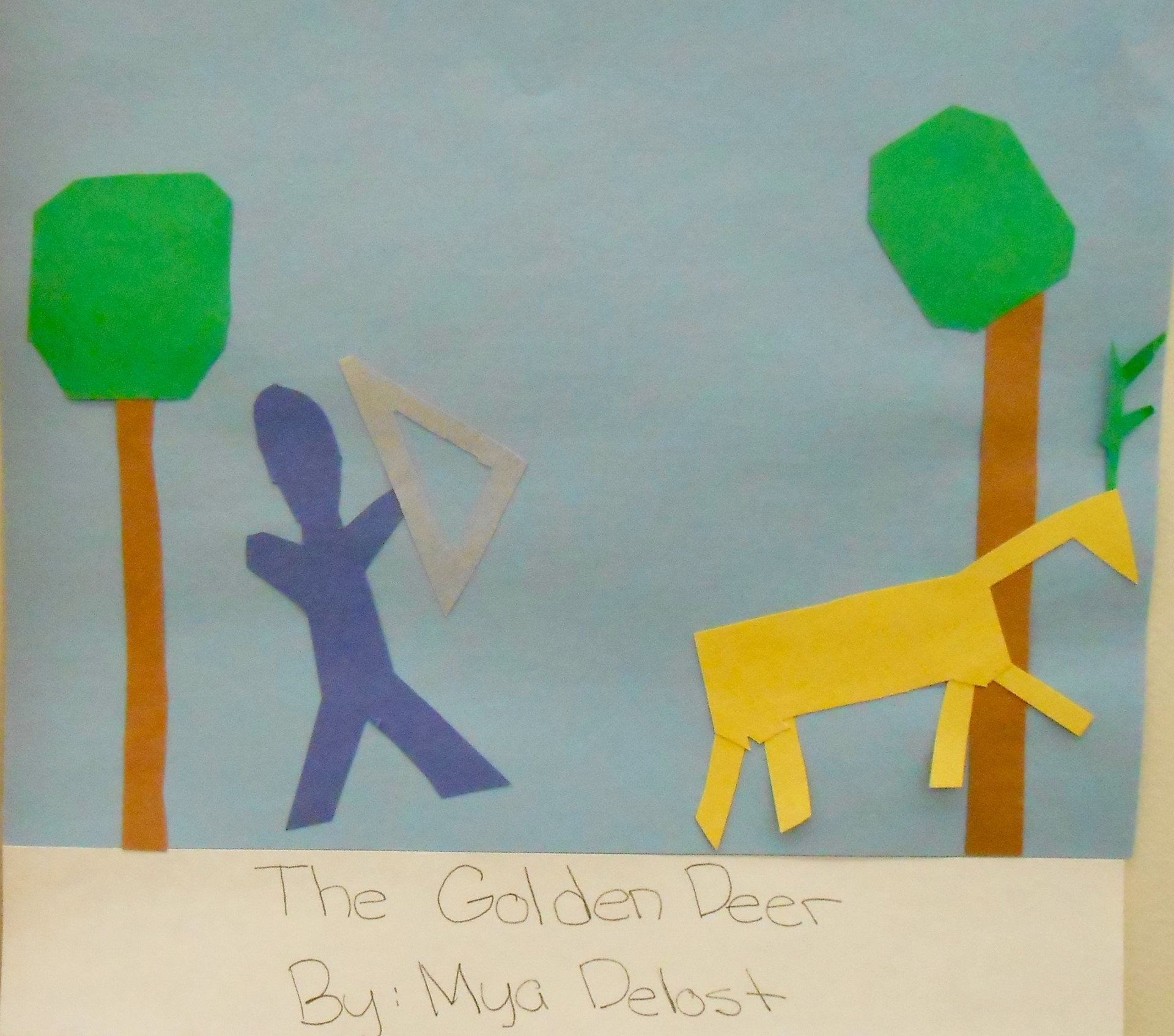 Illustrating Ramayana in the style of Matisse cut-outs.