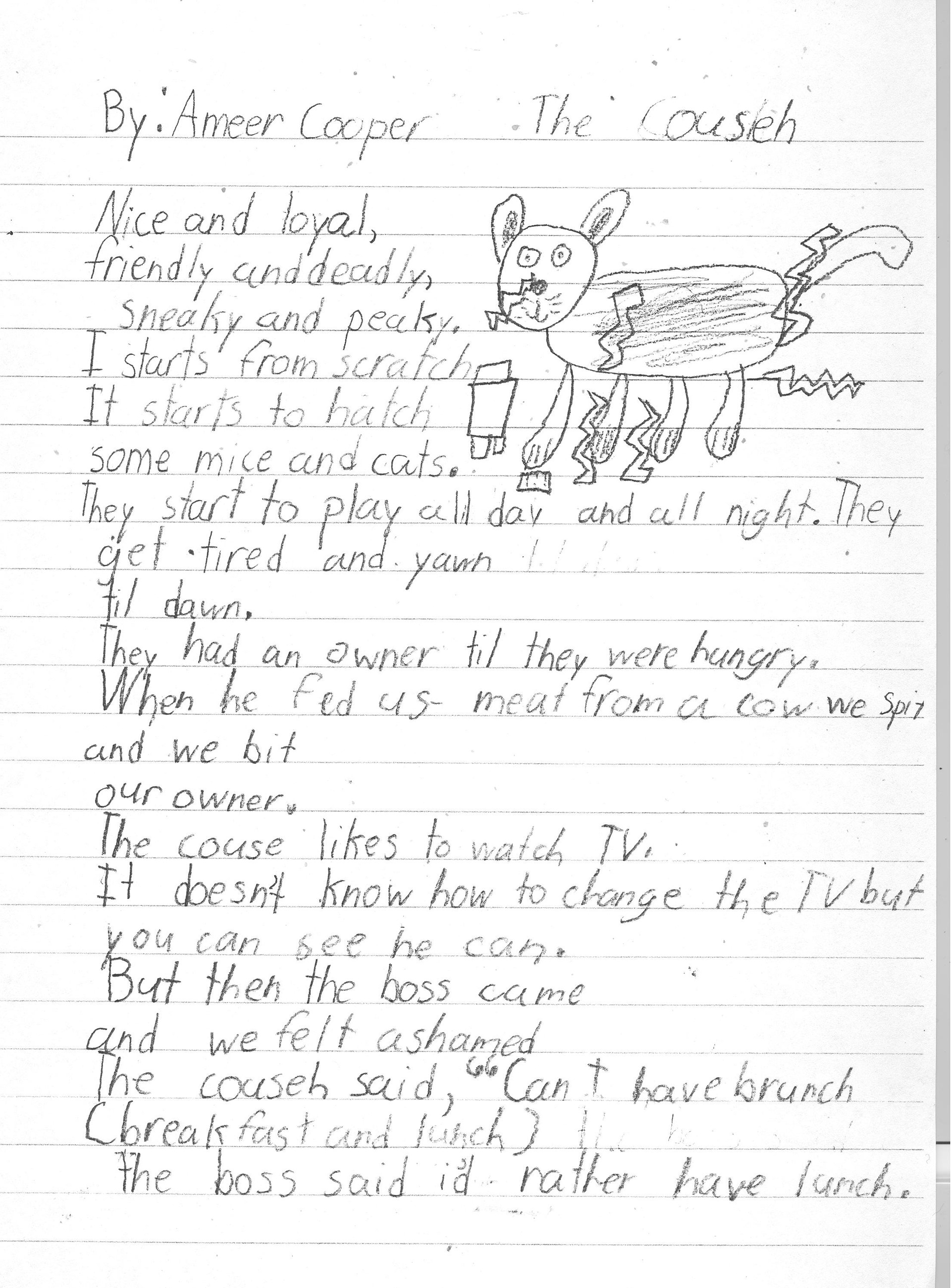 Poems about and illustrations of imaginary animals.