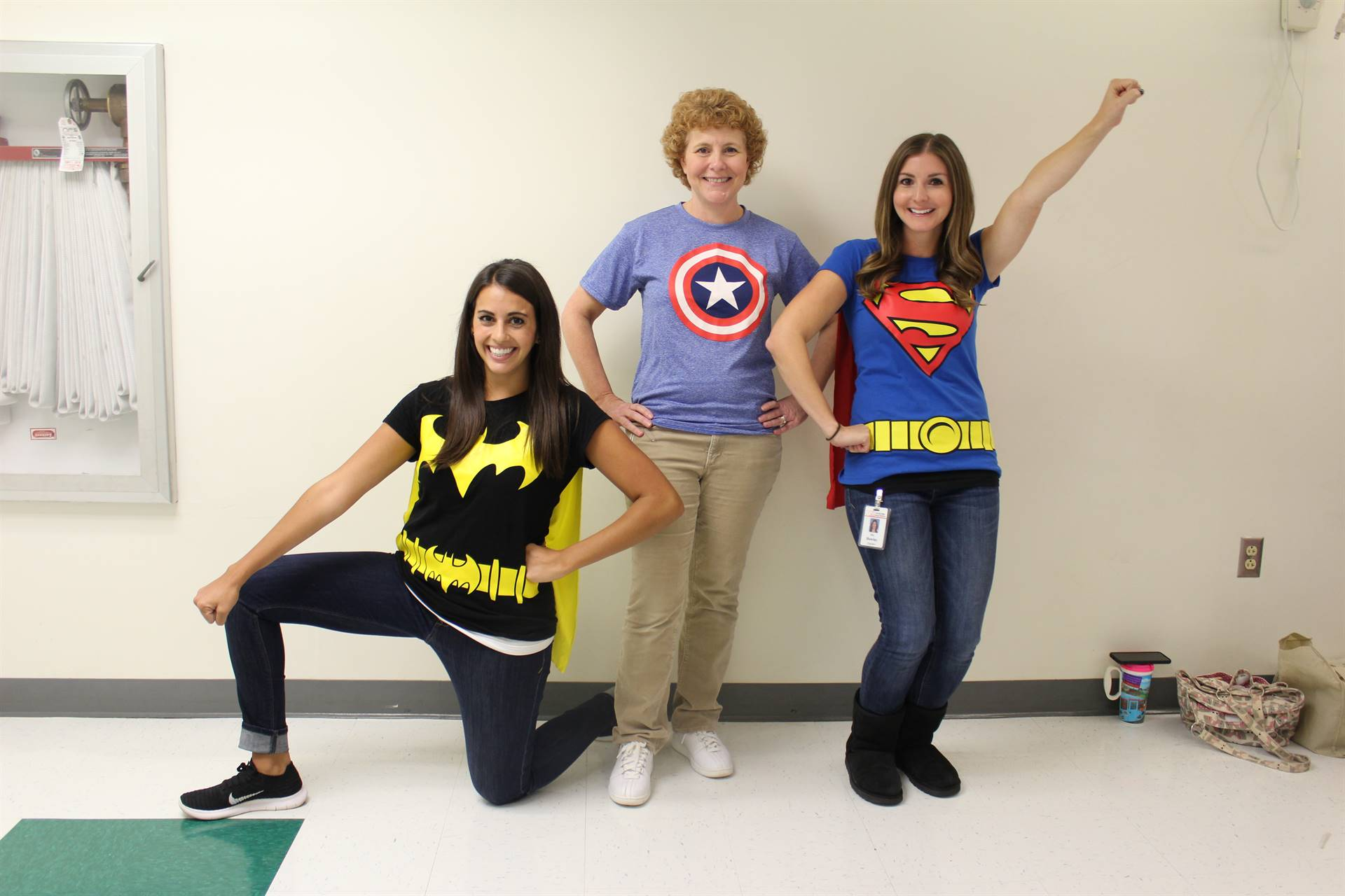 Photo of West View Elementary Teachers Dressed as Superheroes for Hurricane Relief Fundraiser