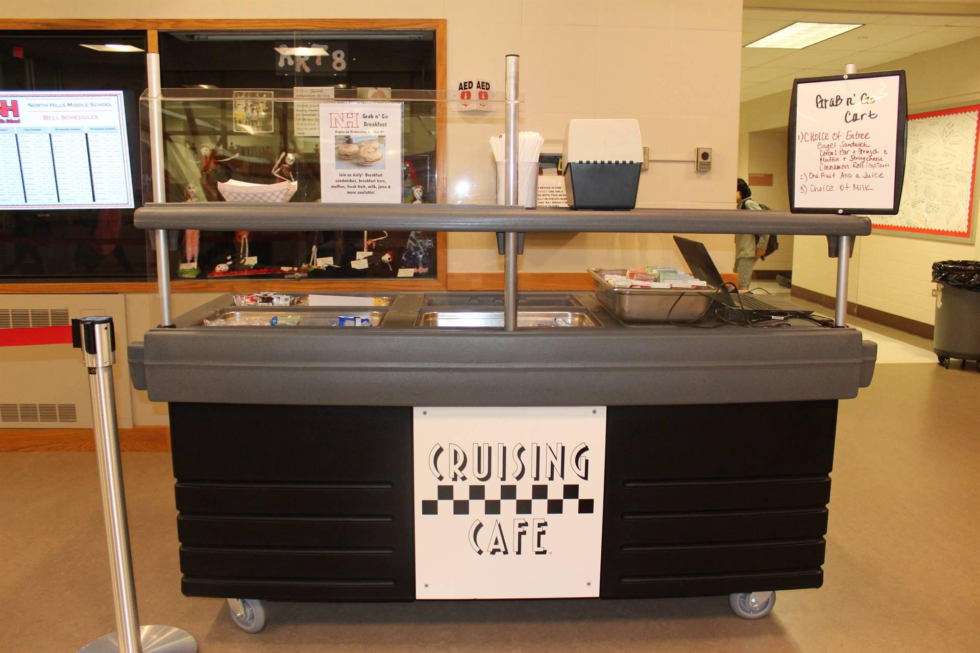 Photo of New Breakfast Cart at NHMS