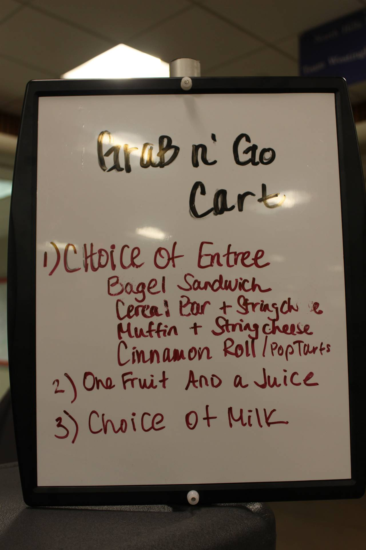 Photo of Menu for Breakfast from New Cart