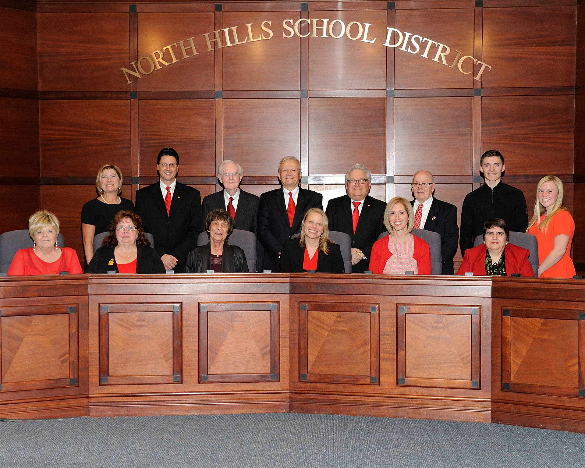 NHSD School Board Members for 2018 and Student Representatives