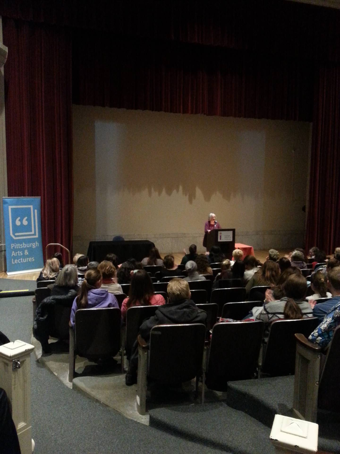 Katherine Paterson speaks to the audience.