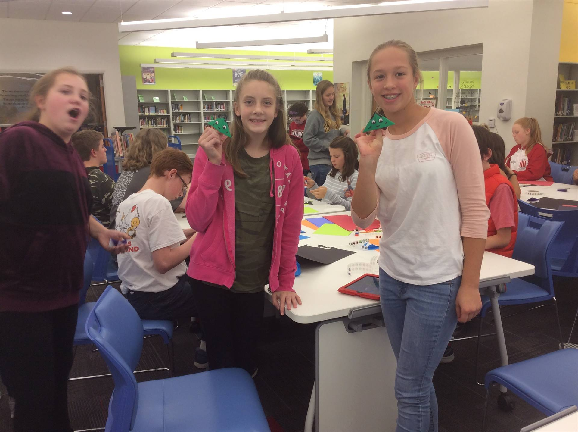 Students Making Bookmarks
