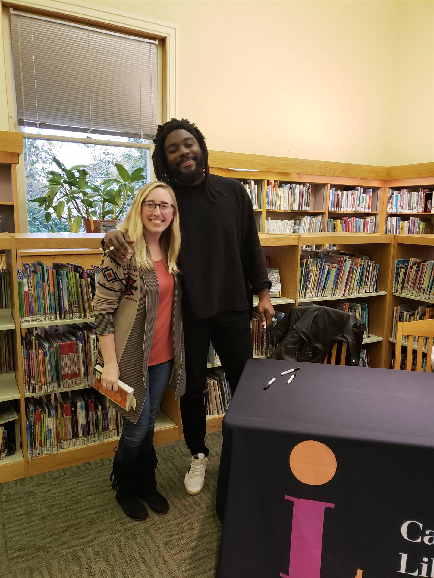 Jason Reynolds and teacher