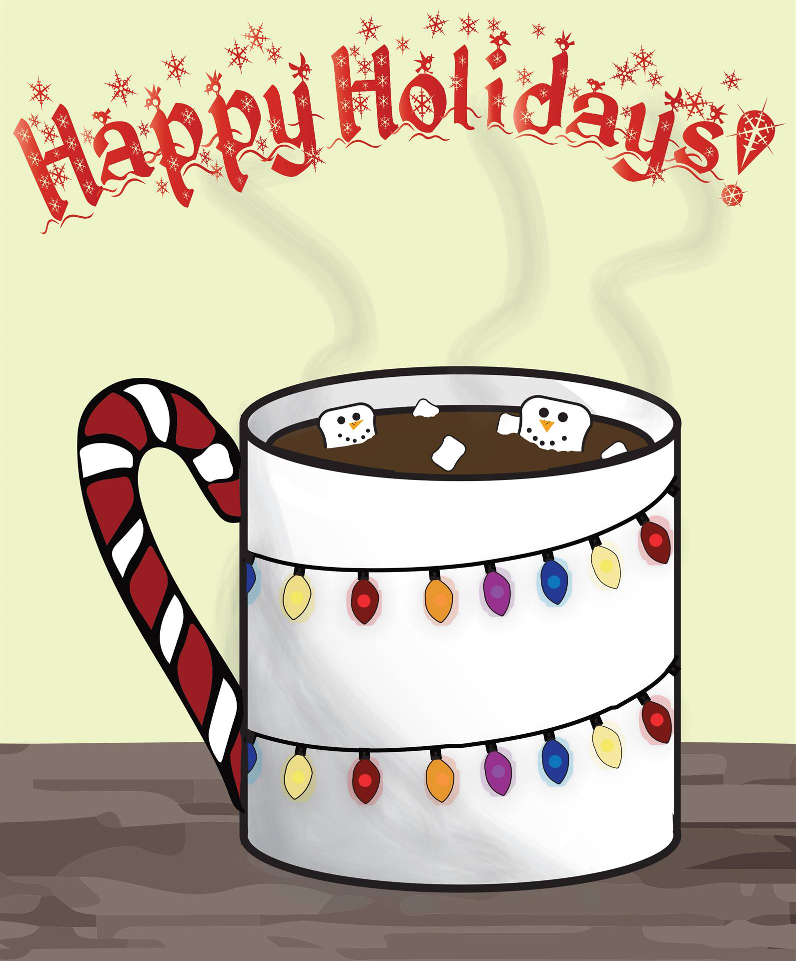 Hot Cocoa Cup Art
