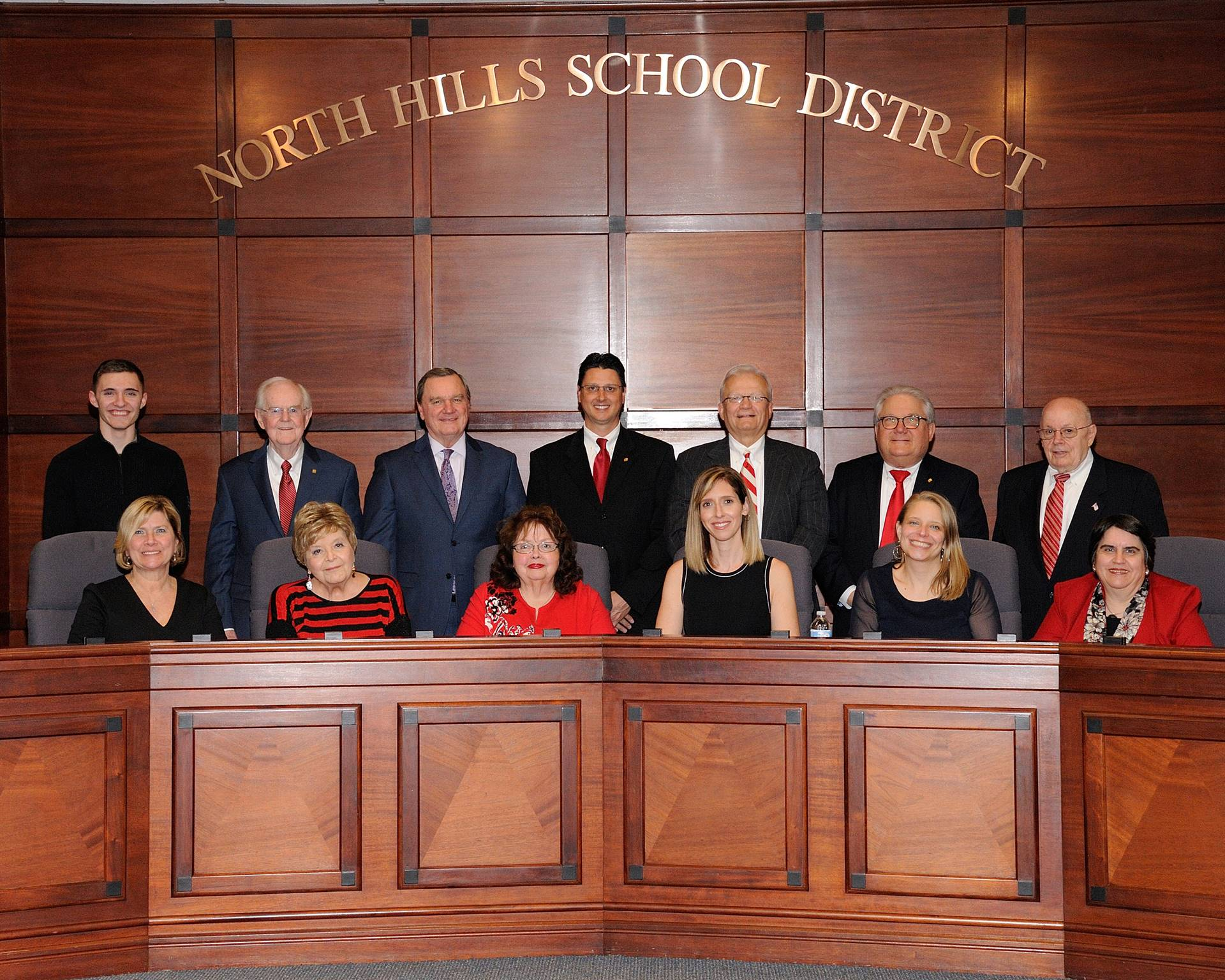 NHSD School Board Members for 2019 and Student Representatives