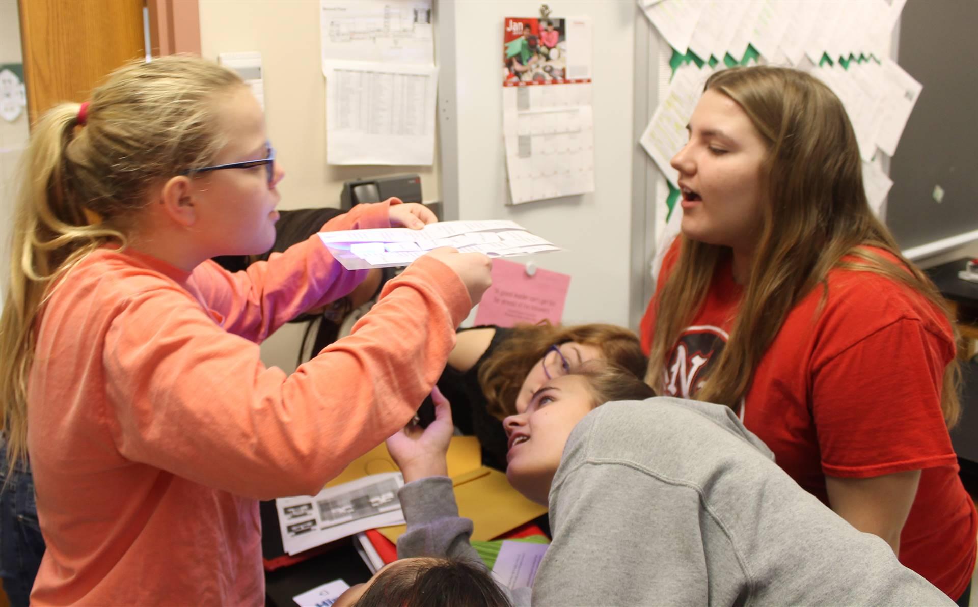 Students Unlocking Puzzle During BreakoutEDU