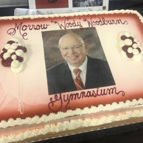 "Morrow ""Woody"" Woodburn dedication ceremony cake"