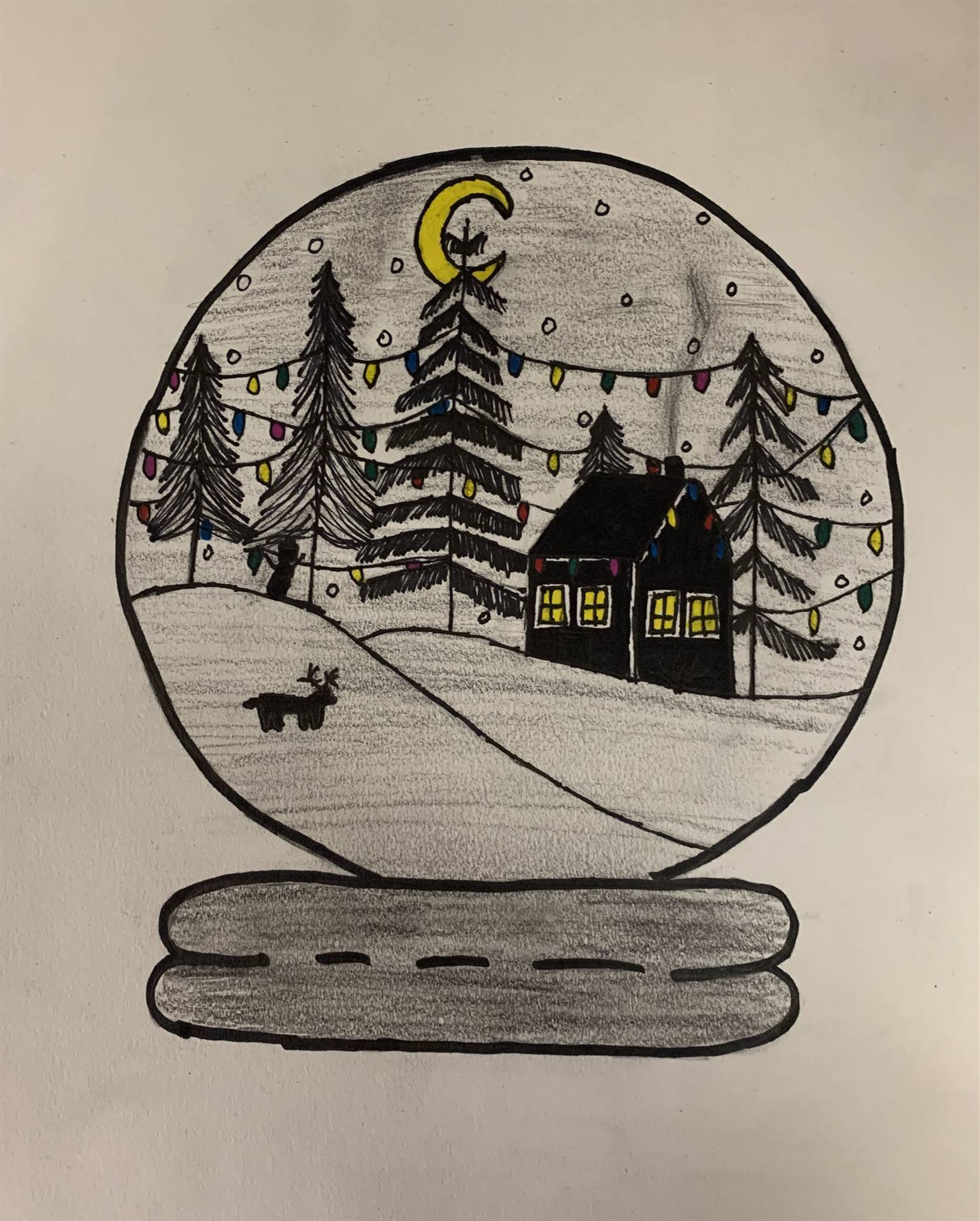 Winter Holiday Card Art Contest entry