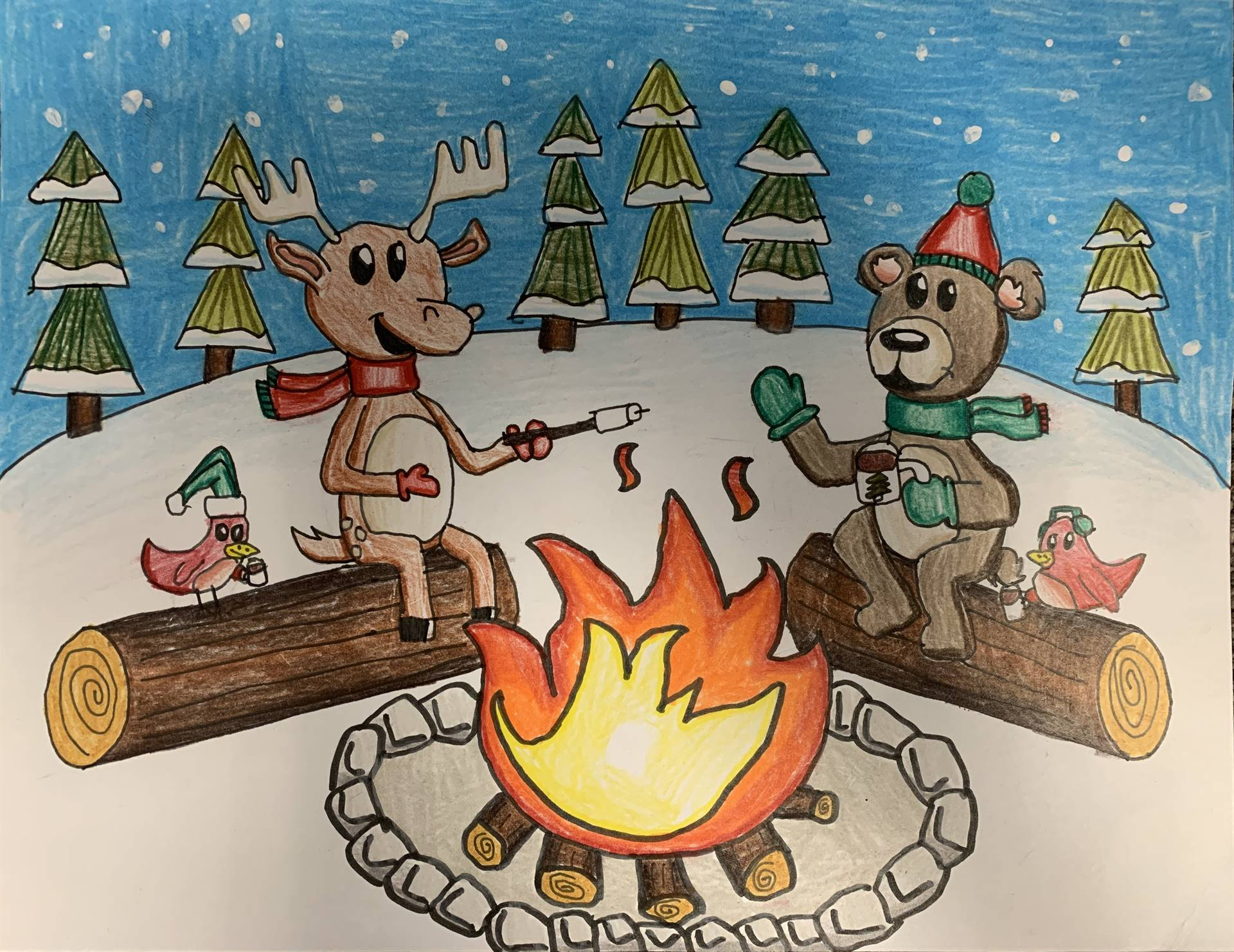Holiday Card Art Contest entry