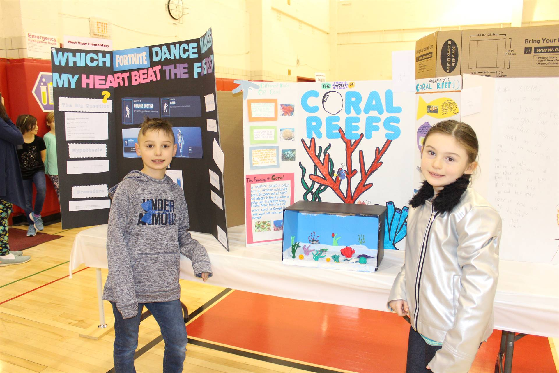 Science Fair Entry with Student