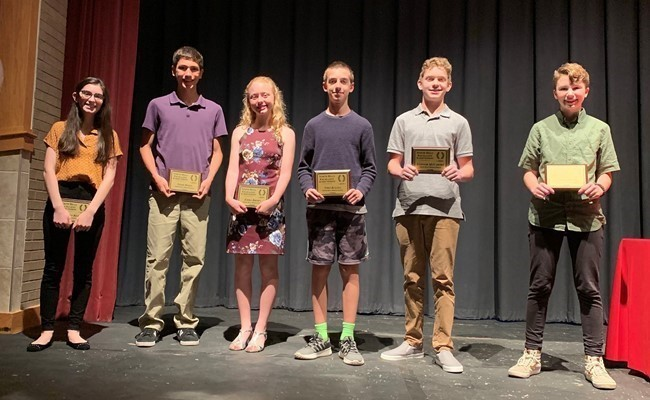 2018-19 Middle School NHEA Award recipients