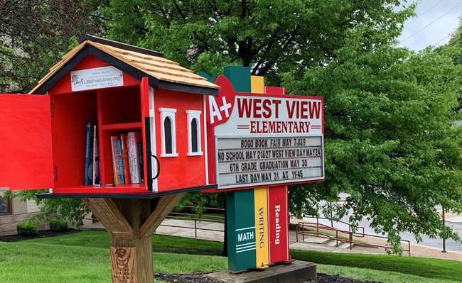West View Elementary School's Little Free Library