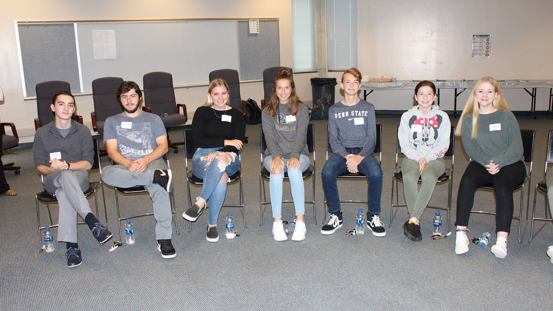 North Hills High School students participated in a Safe2Say roundtable discussion with Attorney Gene