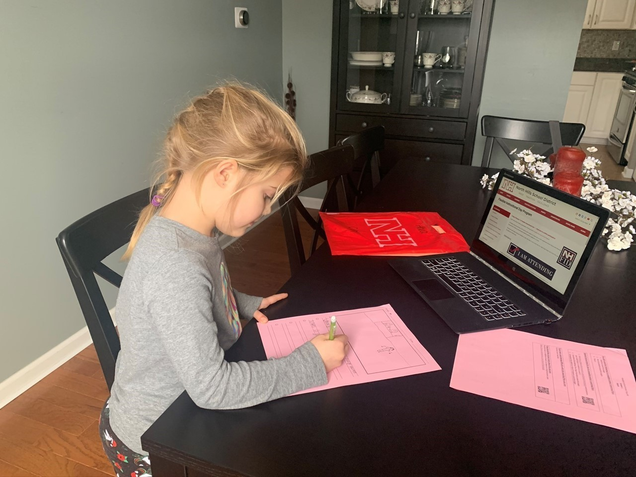 Student completing assignments on a Flexible Instructional Day