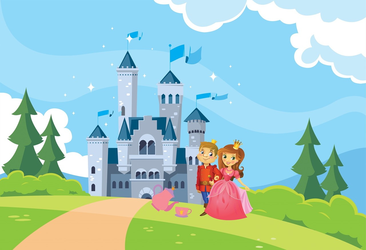 Prince & Princess Royal Tea Party with castle in the background