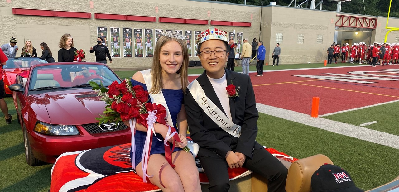 North Hills seniors Emma Gallagher and Kevin Tian